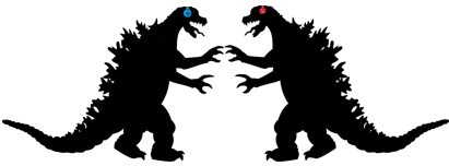 Godzilla's Wearing Beats Headphones