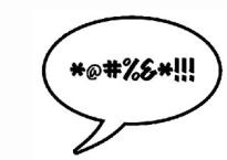 speech bubble with curse word symbols